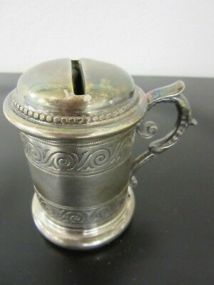 Antique silver powder shaker dresser tray powder holder covered  A.K.
