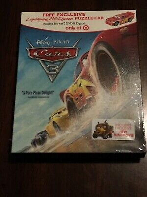 Cars 3 on Blu-ray & DVD - Target Exclusive with Puzzle Car - NEW & SEALED! Pixar