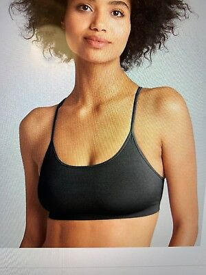 63f4e3ac48bf0e GAP SEAMLESS RACERBACK Bralette in White L Great 4 YOGA NWOT SOLD ...