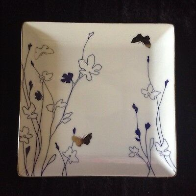 Charter Club Grand Buffet SILHOUETTE INDIGO Square Salad Plate