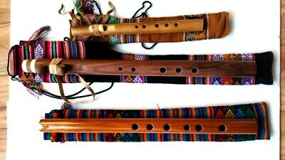 NATIVE AMERICAN FLUTE Set Of 3 W-Textile Bag Look Video New