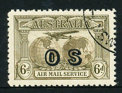 Australian 1931 Kingsford Smith Airmail OS stamp, CTO with gum