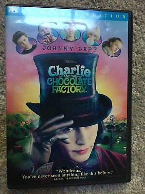 Charlie and the Chocolate Factory DVD, Johnny Depp, Fullscreen