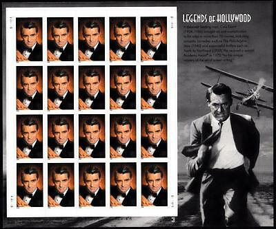 US, #3692 Cary Grant, Legends of Hollywood sheet 20 37c, MNH