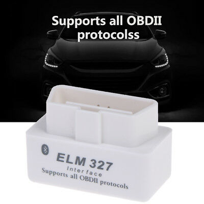 ObdII White V2.1 Mini Elm327 Bluetooth Interface Car Scanner Diagnostic TooGKES