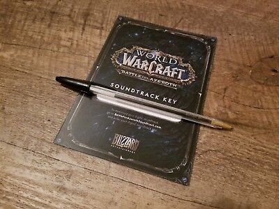WoW Battle for Azeroth Collector's Edition Digital Soundtrack Voucher *NEW*