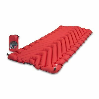Klymit Insulated Static V Luxe Sleeping Mat Extra Large Red/Charcoal Black