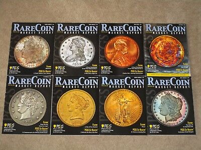 2019 & 2018 PCGS Magazines --Rare Coin Market Report & Price Guide (8 total)