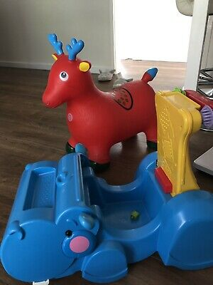 Fisher Price Gonnle & Go Hippo With Reindeer