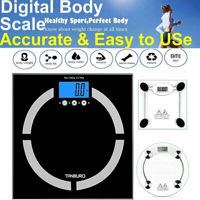7 In 1 180Kg Lcd Bathroom Weighing Body Bmi Fat Weight Electronic Home Scales