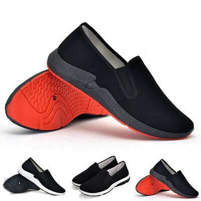 Mens Casual Working Shoes Slip On Sneakers Running Sports Anti Slip Outdoor New