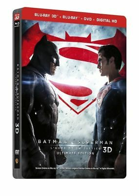 Blu Ray 3D + 2D + DVD : Batman V Vs Superman - Ed Steelbook - NEUF