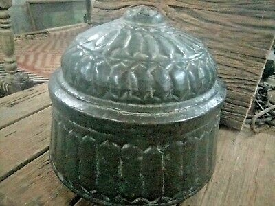 Antique Great Calligraphy Carved Copper Islamic Mughal Religious Big storage Box