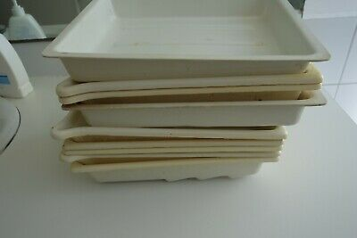 12 photographic developing trays various sizes