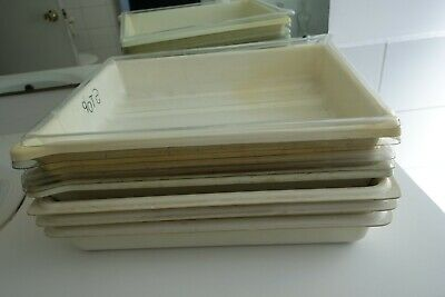 Vintage photographic developing trays 12 X 15 in
