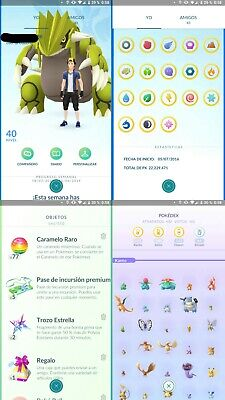 Pokemon Go Account Level 40 | Mystic Team | Handplayed | Gmail |