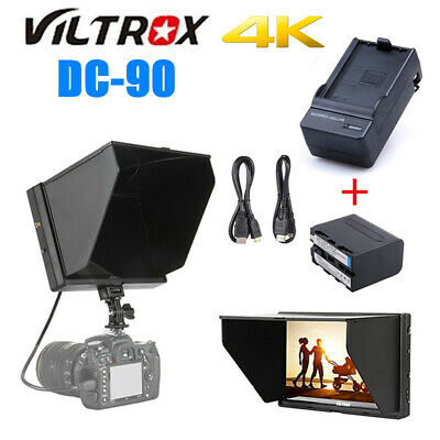 "Viltrox DC-90 HD 4K 8.9"" Field Video Monitor + NP-F970 Battery For DSLR Camera"