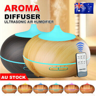 Essential Oil Aroma Diffuser Ultrasonic Humidifier Aromatherapy LED Purifier AU