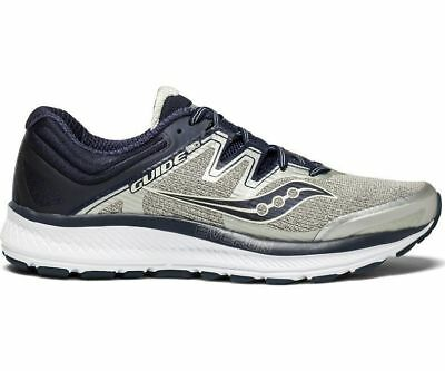Saucony Guide ISO Wide Fit Mens Shoes Grey/Navy