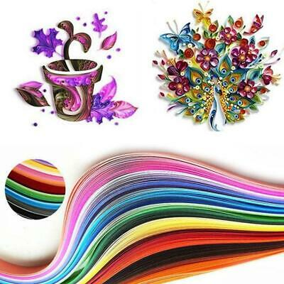 180 Stripes Quilling Paper 3-7mm Width Mixed Color For DIY Craft 36 Colors E9W5
