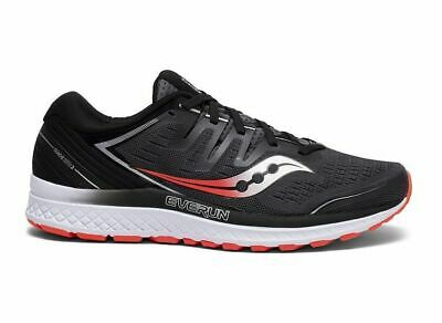 Saucony Guide ISO 2 Wide Fit Mens Shoes Black/Grey