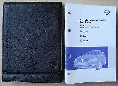 Vw Passat Bluemotion R36 Saloon Owners Manual Handbook For 2005-2010 Cars Ref948