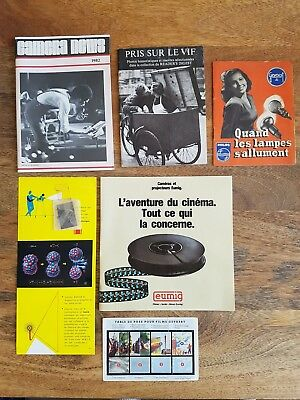 Lot documents sur la photo - Eumig/Gevaert/MBLE/Camera News/Pris sur le Vif...