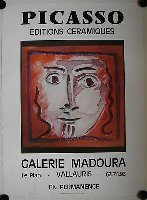 Affiche PICASSO Exposition Galerie Madoura - Vallauris
