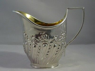 Solid Silver Cream Jug with Gilt Interior by Charles Stuart Harris, Ldn 1898