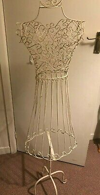 Mannequin stand wrought iron shabby chic style
