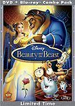 Beauty And The Beast Blu-Ray 3 Disc Disney Diamond Edition Mint Free Shipping