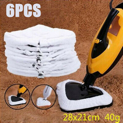 6X Universal Steam Mop Re-Useable Heads Washable Durable Floor Cloth Pad Replace