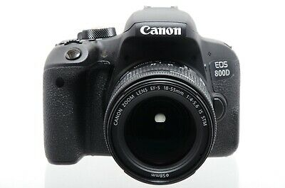 Used Canon EOS 800D With 18-55mm F4-5.6 IS STM Lens (Boxed, SH32376)