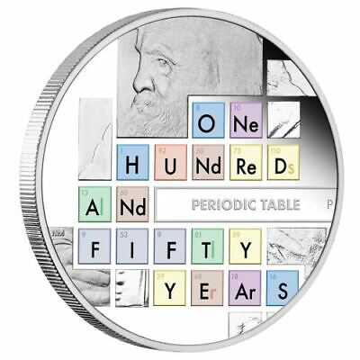 2019 Tuvalu $1 150th Anniversary of the Periodic Table 1oz Silver Proof Coin