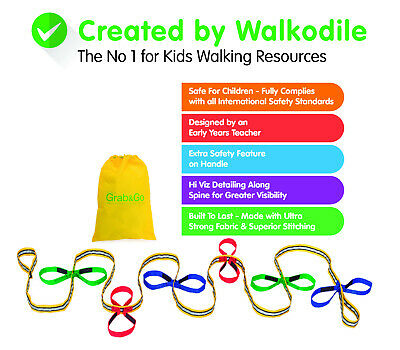 Childrens Walking Rope, PREMIUM QUALITY. Teacher Designed. Fully Safety Tested.