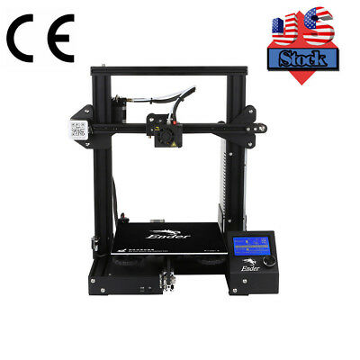 US Stock, Creality Ender3 3D Printer Resume Print OSHW Certified DC 24V 15A
