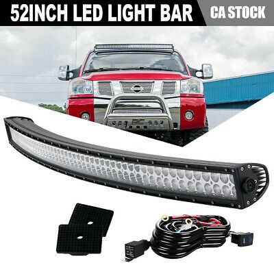 52inch 700W Curved Led Light Bar Offroad Windsheild Roof Driving 4X4 Tractor 54