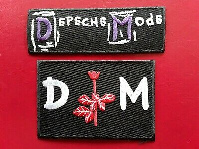 DEPECHE MODE ENGLISH NEW WAVE PUNK ROCK MUSIC EMBROIDERED PATCHES x 2 UK SELLER