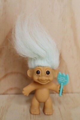 "Vintage Russ Troll Doll - Mint green hair ""YOU'RE SOMEBUNNY SPECIAL"" Troll"