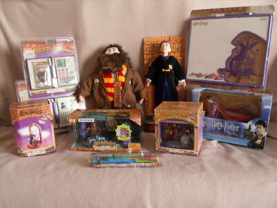 Vintage Harry Potter - Book Of Spells, Clock, Corkboard, Mattel Playset, Trudi +