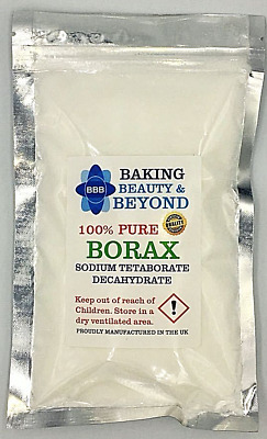 Slime Activator - 240g of Pure Sodium Tetraborate Decahydrate - Borax Powder