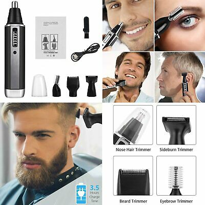4 In1 Rechargeable Electric Ear Nose Hair Trimmer Beard Eyebrows Removal Shaver