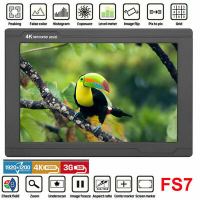 "LILLIPUT FS7 7"" HD 1920X1200 IPS 4K Video Monitor 1000:1 for DSLR Camera NEW SG"