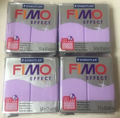 20x STAEDTLER FIMO EFFECT POLYMER MODELLING CLAY OVEN BAKE 57g (1140g) LILAC 605