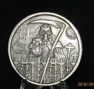 2018 Grim Reaper Ultra High Relief 1 oz troy silver 999 Limited Edition