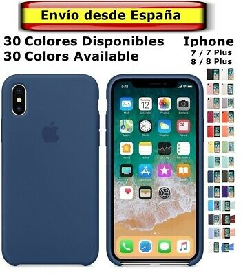 FUNDA Original Carcasa con LOGO SILICONA suave Genuina Apple IPHONE  7 8 Plus