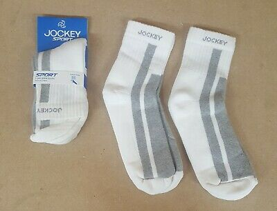 Jockey SOCKS Sport Mens 3/4/6 pair Black & Grey white Ankle-Length Socks 7034