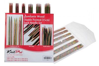 Knitpro Symfonie Double Pointed Sock Needle Set 15cm - Great Value!