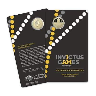 2018 $1 Invictus Games - Sydney Coloured Frosted Uncirculated Coin