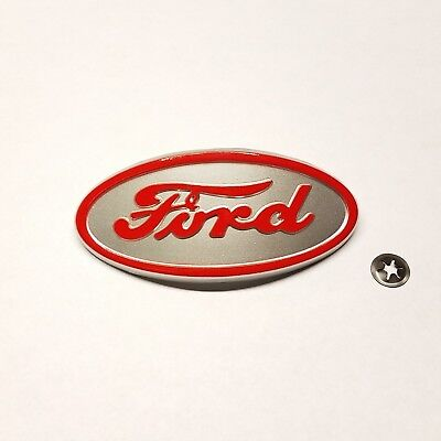 Ford 8N tractor front hood emblem with mounting nut FREE SHIPPING!